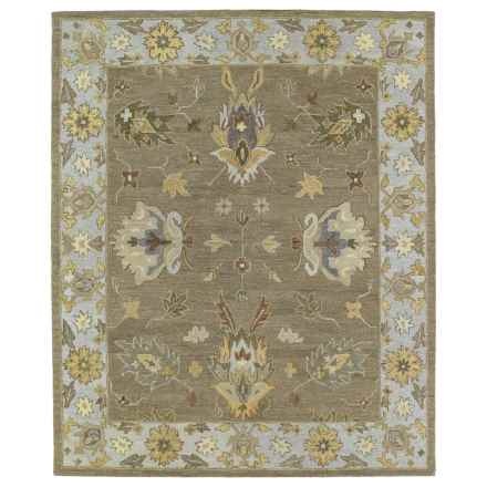 "Kaleen Brooklyn Collection Area Rug - 5'x7'6"", Hand-Tufted Wool in Delany Mocha - Closeouts"