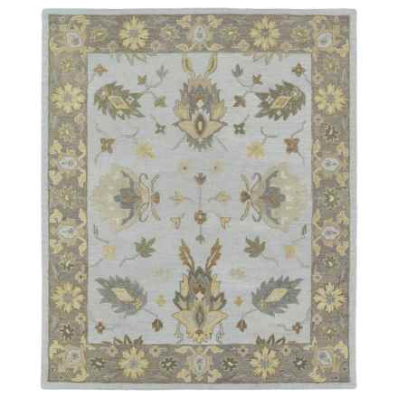 "Kaleen Brooklyn Collection Area Rug - 5'x7'6"", Hand-Tufted Wool in Delany Silver - Closeouts"