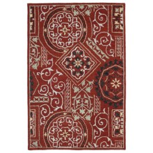 Kaleen Brooklyn Collection Area Rug - 8x11', Hand-Tufted Wool in Xander Red - Overstock
