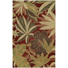 Kaleen Calais Blooming Heights Virgin Wool Area Rug - 8x11' in Red - Closeouts