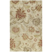 Kaleen Calais Hand-Tufted Wool Area Rug - 8x11' in Hawaian Bloom Linen - Closeouts