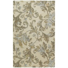 Kaleen Calais Hand-Tufted Wool Area Rug - 8x11' in Waterfall Ivory - Closeouts