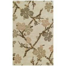 Kaleen Calais Handcrafted Washed Virgin Wool Area Rug - 8x11' in Dogwood Linen - Closeouts