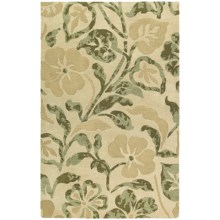 Kaleen Calais Lily in the Valley Washed Virgin Wool Accent Rug - 2x3' in Beige - Closeouts