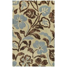 """Kaleen Calais Lily in the Valley Washed Virgin Wool Area Rug - 7'9"""" Square in Linen - Closeouts"""