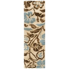 "Kaleen Calais Lily in the Valley Washed Virgin Wool Floor Runner - 2'3""x7'6"" in Linen - Closeouts"