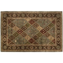 Kaleen Canterbury Area Rug - Handcrafted Virgin Wool, 5x8' in Coffee - Closeouts