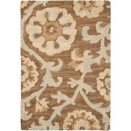 Kaleen Carriage Collection Wool Accent Rug - 2x3' in Cornish Graphite - Overstock