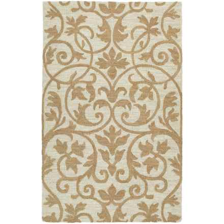 Kaleen Carriage Collection Wool Accent Rug - 2x3' in Trellis Brown - Overstock