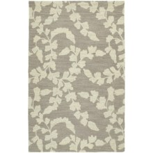 "Kaleen Carriage Collection Wool Area Rug - 5'x7'9"" in Lauren Graphite - Overstock"