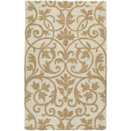 "Kaleen Carriage Collection Wool Area Rug - 5'x7'9"" in Trellis Brown - Overstock"