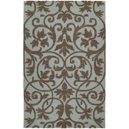 "Kaleen Carriage Collection Wool Area Rug - 5'x7'9"" in Trellis Spa - Overstock"