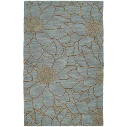 Kaleen Carriage Collection Wool Area Rug - 8x10' in City Park Azure - Overstock
