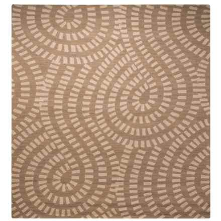Kaleen Carriage Collection Wool Area Rug - 8x10' in Traffic Nutmeg - Overstock