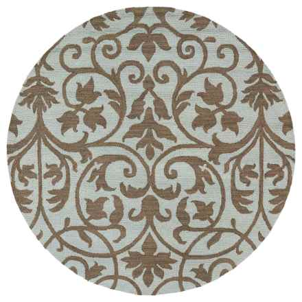 "Kaleen Carriage Collection Wool Round Area Rug - 7'9"" in Trellis Spa - Overstock"