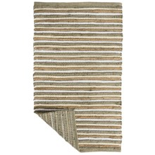 "Kaleen Chindi Stripe Accent Rug - 27x45"" in Natural - Closeouts"