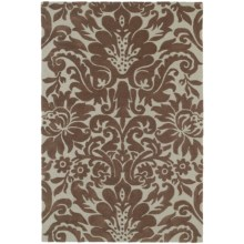 "Kaleen Crowne Collection Area Rug - 9'6""x13' in Duncan Chocolate - Closeouts"