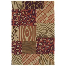 """Kaleen Crowne Collection Tutor Area Rug - 5'x7'6"""" in Brown - Closeouts"""