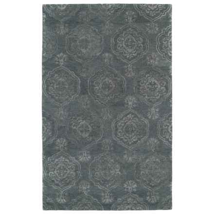 "Kaleen Divine Accent Rug - 3'6""x5'6"" in Pewter Green - Closeouts"
