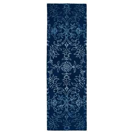 """Kaleen Divine Floor Runner - 2'6""""x8' in Blue - Closeouts"""