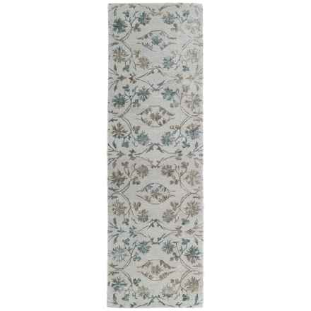 "Kaleen Divine Floor Runner - 2'6""x8' in Linen - Closeouts"