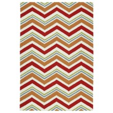 Kaleen Escape Chevron Indoor-Outdoor Accent Rug - 4x6' in Red - Closeouts