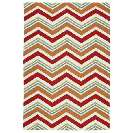 Kaleen Escape Chevron Indoor Outdoor Accent Rug 4x6