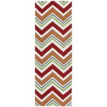 Kaleen Escape Chevron Indoor-Outdoor Floor Runner - 2x6' in Red - Closeouts