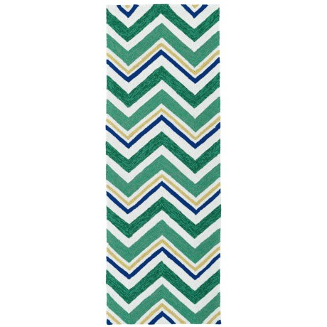 Kaleen Escape Chevron Indoor Outdoor Floor Runner 2x6