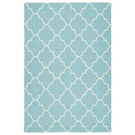 Kaleen Escape Geometric Indoor-Outdoor Accent Rug - 4x6' in Blue Moroccan - Closeouts
