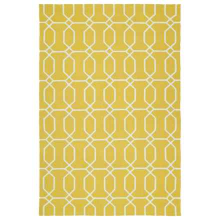 Kaleen Escape Geometric Indoor-Outdoor Accent Rug - 4x6' in Gold Octagon - Closeouts