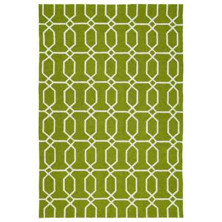Kaleen Escape Geometric Indoor-Outdoor Accent Rug - 4x6' in Green Octagon - Closeouts