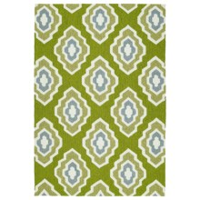 Kaleen Escape Geometric Indoor-Outdoor Accent Rug - 4x6' in Green - Closeouts