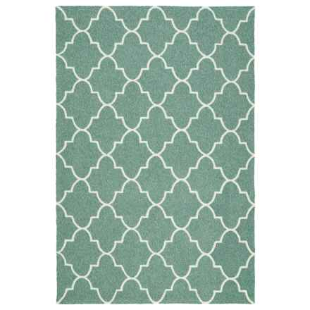 Kaleen Escape Geometric Indoor-Outdoor Accent Rug - 4x6' in Mint Moroccan - Closeouts