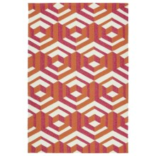 Kaleen Escape Geometric Indoor-Outdoor Accent Rug - 4x6' in Multi - Closeouts