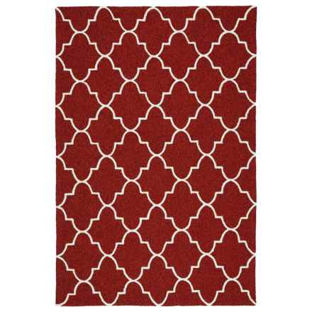 Kaleen Escape Geometric Indoor-Outdoor Accent Rug - 4x6' in Red Moroccan - Closeouts