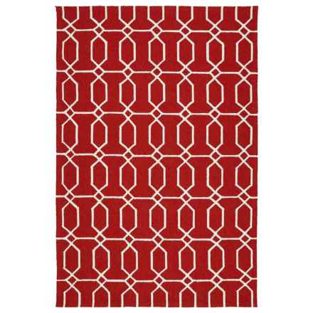 Kaleen Escape Geometric Indoor-Outdoor Accent Rug - 4x6' in Red Octagon - Closeouts