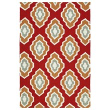 Kaleen Escape Geometric Indoor-Outdoor Accent Rug - 4x6' in Red - Closeouts