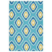 Kaleen Escape Geometric Indoor-Outdoor Area Rug - 5x7.5' in Blue - Closeouts