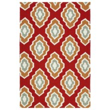 Kaleen Escape Geometric Indoor-Outdoor Area Rug - 5x7.5' in Red - Closeouts