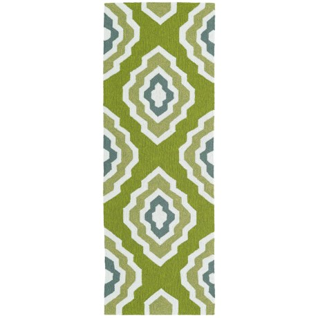Kaleen Escape Geometric Indoor Outdoor Floor Runner 2x6