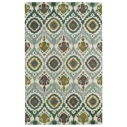 "Kaleen Global Inspiration Accent Rug - 3'6""x5'6"" in Green - Closeouts"