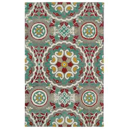 "Kaleen Global Inspiration Accent Rug - 3'6""x5'6"" in Grey - Closeouts"