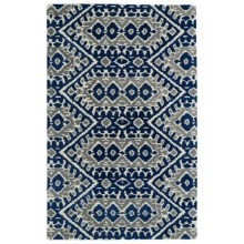 Kaleen Global Inspirations Accent Rug - 2x3', Hand-Tufted Wool in Blue/Grey/Ivory - Overstock