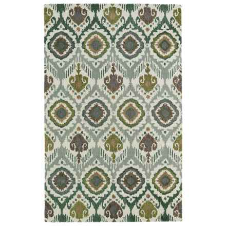 Kaleen Global Inspirations Accent Rug - 2x3', Hand-Tufted Wool in Green - Overstock
