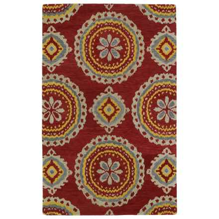 Kaleen Global Inspirations Accent Rug - 2x3', Hand-Tufted Wool in Red/Gold/Light Brown - Overstock