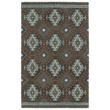 Kaleen Global Inspirations Area Rug - 9x12', Hand-Tufted Wool in Grey/Sky Blue/Ivory - Overstock
