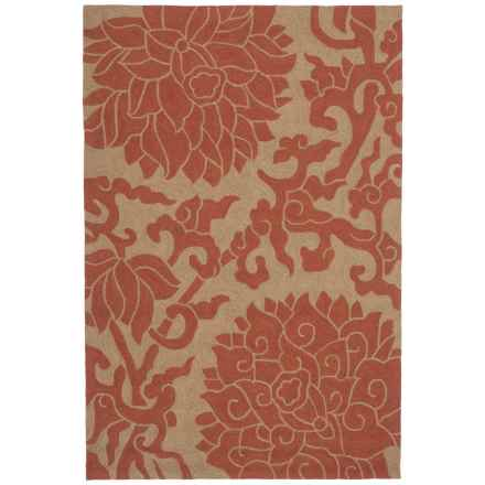 "Kaleen Habitat Collection Bahama Rose Indoor-Outdoor Area Rug - 5'x7'6"" in Paprika - Closeouts"
