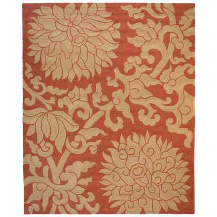 Kaleen Habitat Collection Bahama Rose Indoor-Outdoor Area Rug - 8x10' in Paprika - Closeouts