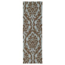 "Kaleen Habitat Collection Indoor/Outdoor Floor Runner - 2'6""x8' in Sea Spray Mocha - Overstock"